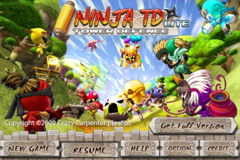 Ninja TD Lite Screenshot